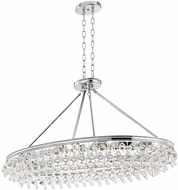 Crystorama 279-CH Calypso Polished Chrome Island Lighting