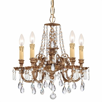 Crystorama 2805-OB-CL-SAQ Novella Olde Brass Clear Spectra Mini Chandelier Light