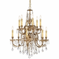 Crystorama 2812-OB-CL-S Novella Olde Brass Clear Swarovski Strass Ceiling Chandelier