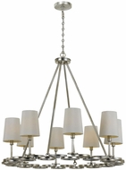 Crystorama 288-SA Graham Antique Silver Ceiling Chandelier
