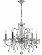 Crystorama 3025-CH Traditional Crystal Polished Chrome Clear Hand Cut Mini Chandelier Light