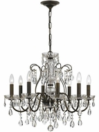 Crystorama 3028-EB Traditional Crystal English Bronze Clear Hand Cut Chandelier Lamp