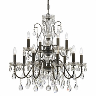Crystorama 3029-EB Traditional Crystal English Bronze Clear Hand Cut Ceiling Chandelier