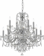 Crystorama 3228-CH-CL-I Imperial Polished Chrome Hanging Chandelier