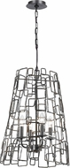 Crystorama 325-RS Lattice Contemporary Raw Steel Ceiling Light Pendant