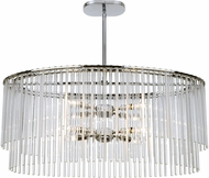 Crystorama 398-CH Bleecker Contemporary Chrome Island Light Fixture