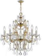 Crystorama 4335-GD-CL-MWP Maria Theresa Gold Mini Chandelier Lamp