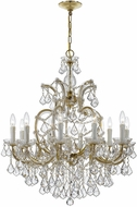 Crystorama 4438-GD-CL-MWP Maria Theresa Gold Ceiling Chandelier