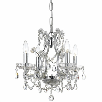 Crystorama 4454-CH-CL-MWP Filmore Vibrant Bronze Clear Hand Cut Mini Chandelier Light