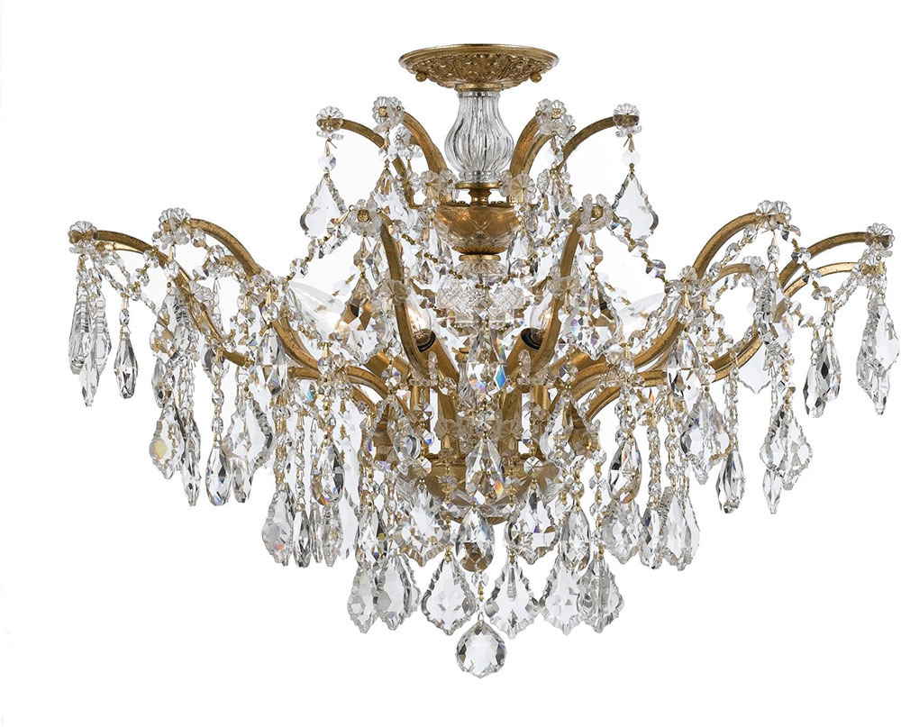 Crystorama 4459GACLMWPCEILING Filmore Antique Gold Flush Mount