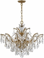 Crystorama 4459-GA-CL-MWP Filmore Antique Gold Hanging Chandelier