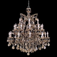 Crystorama 4470-AB-GTS Maria Theresa Antique Brass Chandelier Lighting