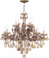 Crystorama 4479-AB-GTS Maria Theresa Antique Brass Chandelier Light