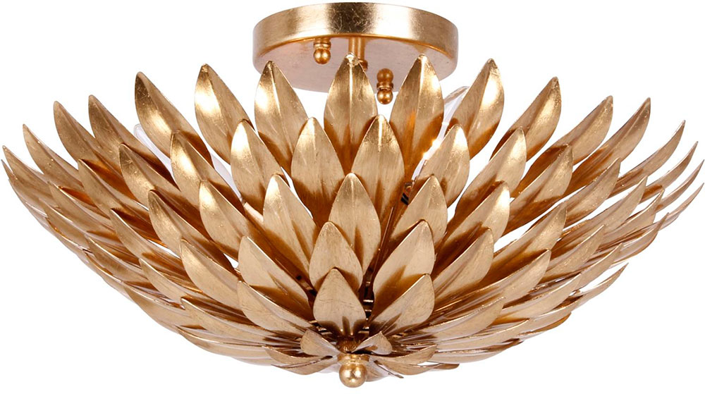 crystorama 505ga broche antique gold ceiling light fixture loading zoom