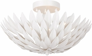 Crystorama 505-MT Broche Matte White Ceiling Lighting Fixture