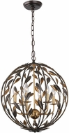 Crystorama 506-EB-GA Broche English Bronze / Antique Gold Drop Lighting Fixture
