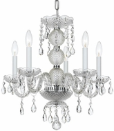 Crystorama 5095-CH-CL-MWP Traditional Crystal Polished Chrome Clear Hand Cut Mini Lighting Chandelier