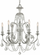 Crystorama 5116-OS-CL-I Regis Olde Silver Chandelier Lamp