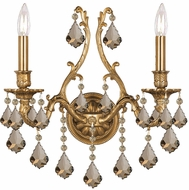 Crystorama 5142-AG-GTS Yorkshire Aged Brass Wall Sconce Lighting
