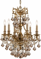 Crystorama 5146-AG-GTS Yorkshire Aged Brass Mini Ceiling Chandelier