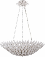 Crystorama 517-MT Broche Matte White Pendant Light