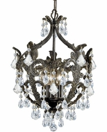 Crystorama 5195-EB-CL-S Legacy English Bronze Clear Swarovski Strass Mini Ceiling Chandelier