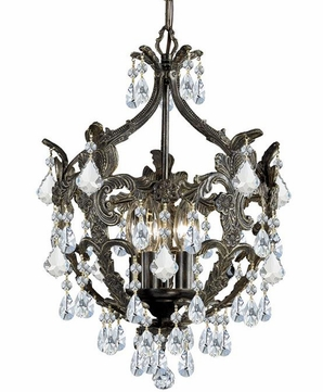 Crystorama 5195-EB-CL-SAQ Legacy English Bronze Clear Spectra Mini Hanging Chandelier
