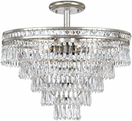 Crystorama 5264-OS-CL-MWP-CEILING Mercer Olde Silver Ceiling Light