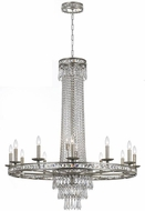 Crystorama 5269-OS-CL-MWP Mercer Olde Silver 43  Chandelier Light