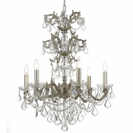 Crystorama 5286-OS-CL-S Highland Park Olde Silver Clear Swarovski Strass Chandelier Lighting
