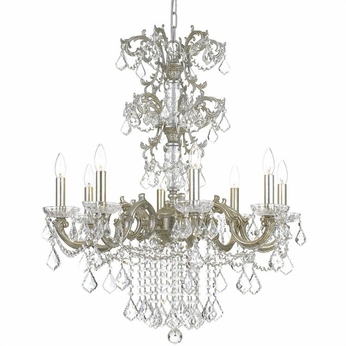 Crystorama 5288-OS-CL-MWP Highland Park Olde Silver Clear Hand Cut Chandelier Lamp