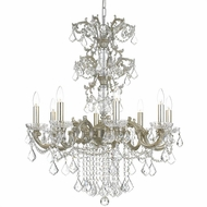 Crystorama 5288-OS-CL-S Highland Park Olde Silver Clear Swarovski Strass Chandelier Light