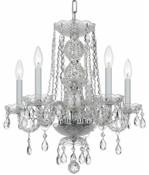 Crystorama 5295-CH-CL-MWP Traditional Crystal Polished Chrome Clear Hand Cut Mini Hanging Chandelier