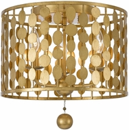 Crystorama 544-GA Layla Modern Antique Gold Ceiling Light Fixture