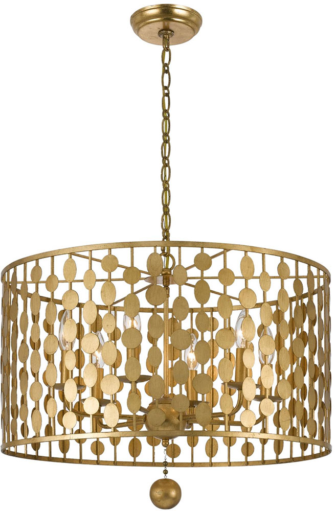 modern hanging lighting. crystorama 546ga layla modern antique gold drum hanging pendant lighting loading zoom