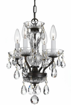 Crystorama 5534-EB-CL-S Traditional Crystal English Bronze Clear Swarovski Strass Mini Lighting Chandelier