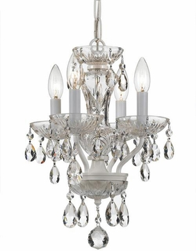 Crystorama 5534-WW-CL-S Traditional Crystal Wet White Clear Swarovski Strass Mini Chandelier Light