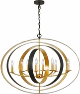 Crystorama 588-EB-GA Luna English Bronze / Antique Gold Chandelier Lighting