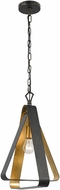 Crystorama 591-EB-GA Luna Modern English Bronze / Antique Gold Hanging Light Fixture
