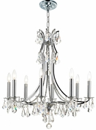 Crystorama 5938-CH-CL-MWP Cedar Polished Chrome Chandelier Lighting