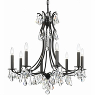 Crystorama 5938-VZ-CL-MWP Cedar Vibrant Bronze Clear Hand Cut Hanging Chandelier