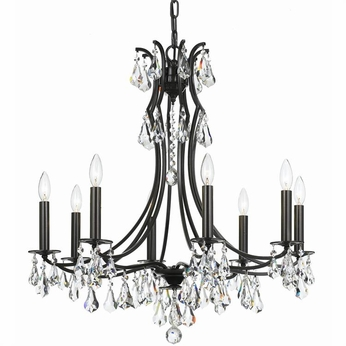 Crystorama 5938-VZ-CL-S Cedar Vibrant Bronze Clear Swarovski Strass Chandelier Light