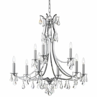 Crystorama 5939-CH-CL-S Cedar Polished Chrome Clear Swarovski Strass Chandelier Lighting