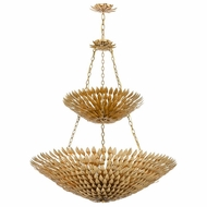 Crystorama 599-GA Broche Antique Gold Chandelier Light