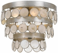 Crystorama 6000-SA Coco Antique Silver Flush Mount Lighting