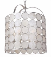 Crystorama 6007-SA Coco Antique Silver Drop Ceiling Lighting