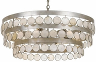 Crystorama 6008-SA Coco Antique Silver Chandelier Light