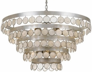 Crystorama 6009-SA Coco Antique Silver Chandelier Lighting