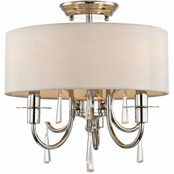 Crystorama 6033-PN-CL-MWP-CEILING Cody Polished Nickel Clear Hand Cut Ceiling Lighting Fixture
