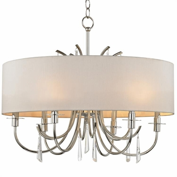 Crystorama 6036-PN-CL-MWP Cody Polished Nickel Clear Hand Cut Drum Hanging Pendant Light